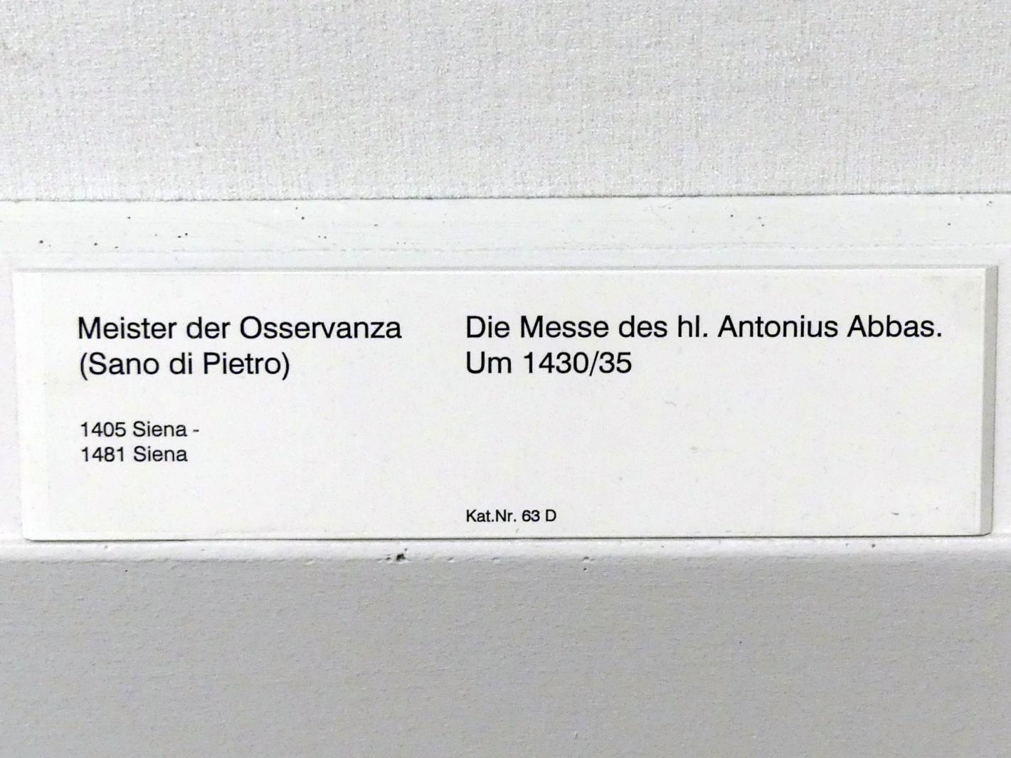 Meister der Osservanza: Die Messe des hl. Antonius Abbas, um 1430 - 1435, Bild 2/2