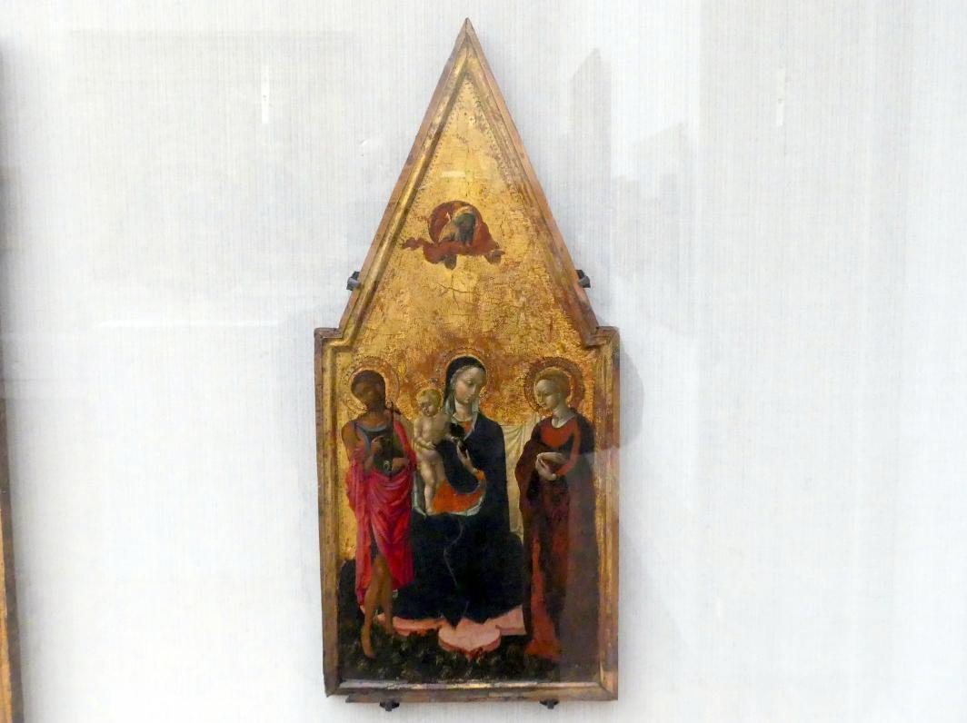 Pietro di Giovanni d'Ambrosio: Maria mit dem Kind, Johannes d.T. und einer Heiligen, Um 1435