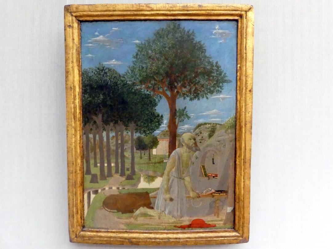 Piero della Francesca: Landschaft mit dem büßenden Hieronymus, 1450