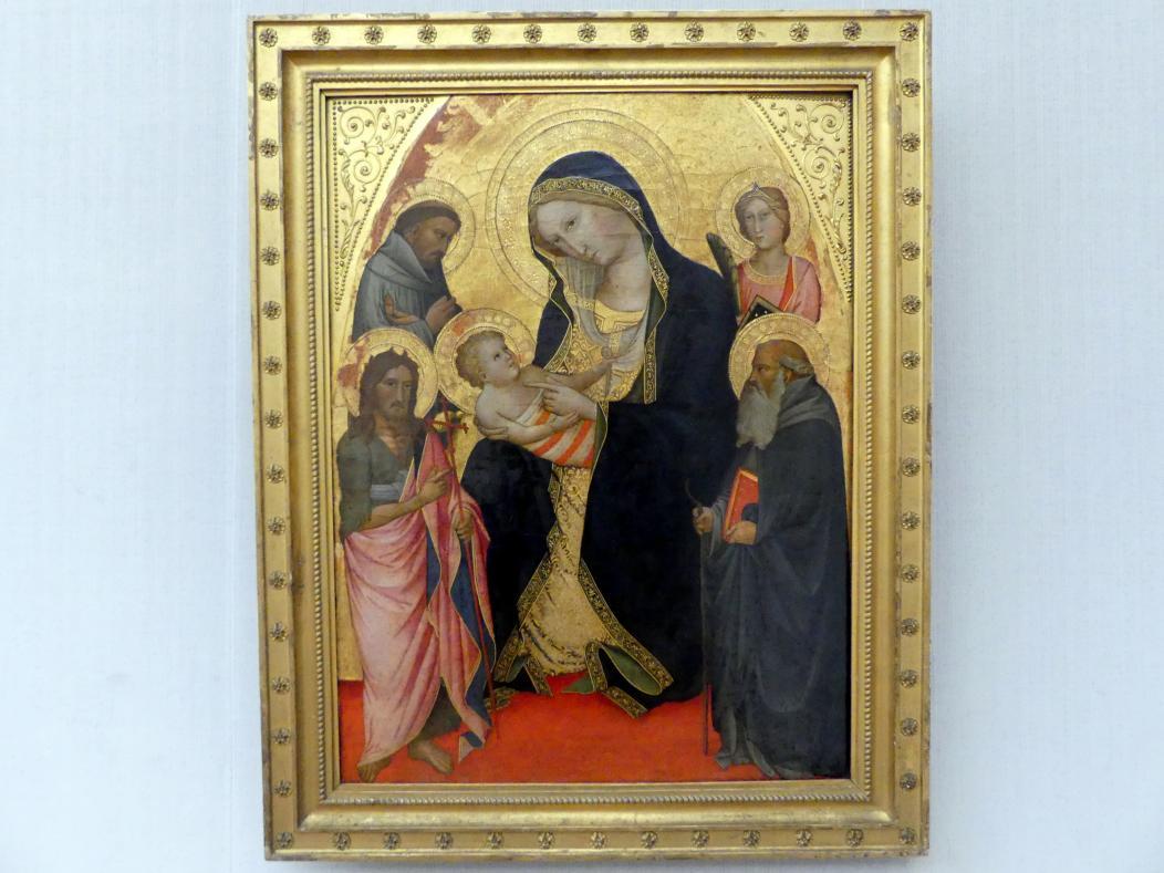 Agnolo Gaddi: Maria mit dem Kind, den hll. Johannes d.T., Franziskus und Antonius Abbes sowie einer Märtyrerin, Undatiert