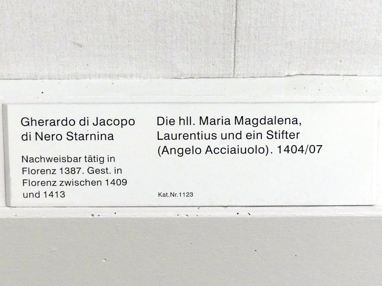 Gherardo Starnina: Die hll. Maria Magdalena, Laurentius und ein Stifter (Angelo Acciaiuolo), 1404 - 1407