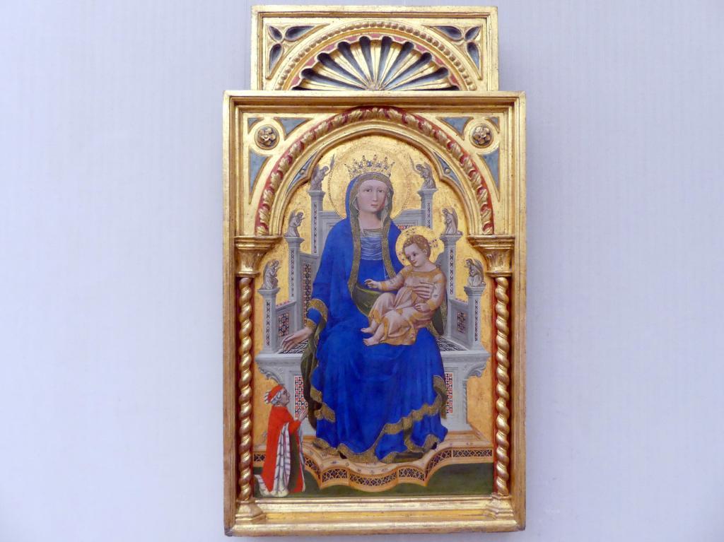 Guariento di Arpo: Thronende Maria mit einem segnenden Kind und einem Stifter, um 1355 - 1360