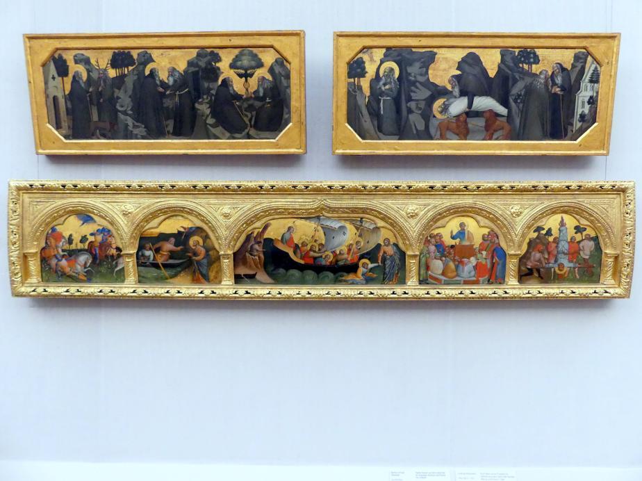 Lorenzo Veneziano: Fünf Tafeln einer Predella mit Szenen aus dem Leben der Apostel Petrus und Paulus, 1369