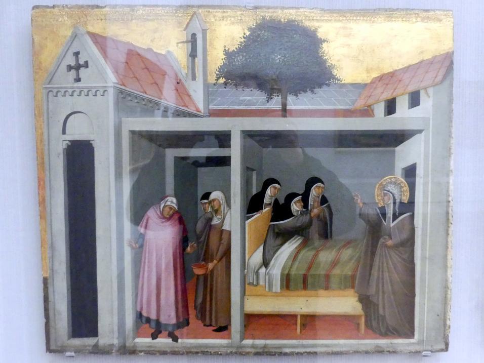 Pietro Lorenzetti: Der hl. Humilitas heilt eine kranke Nonne, um 1330 - 1335