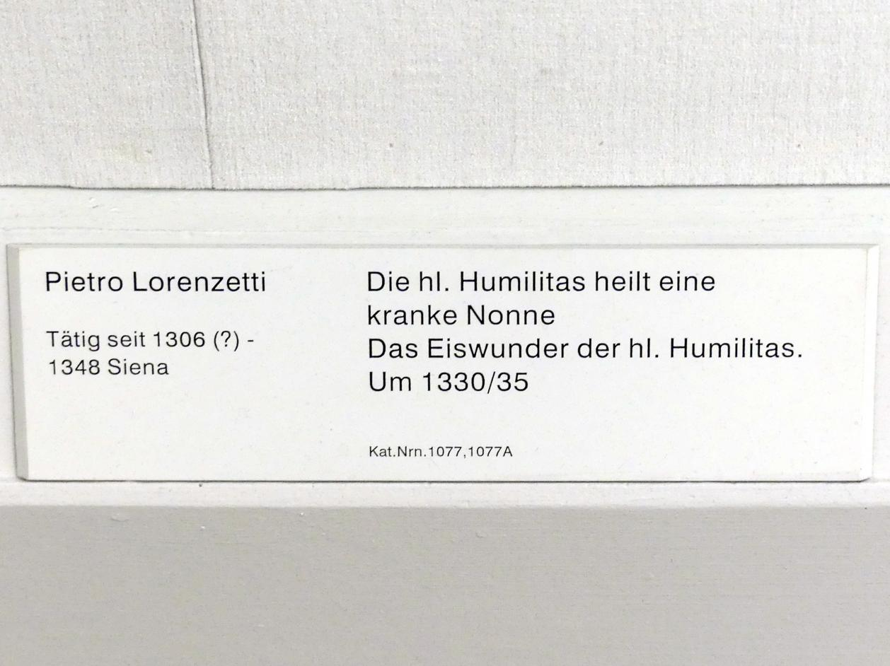 Pietro Lorenzetti: Das Eiswunder der hl. Humilitas, um 1330 - 1335, Bild 2/2