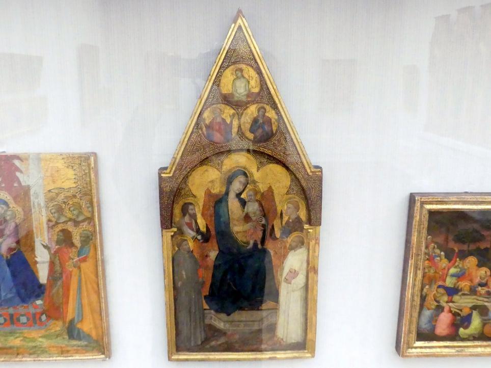 Meister der Madonna des Palazzo Venezia: Thronende Maria mit dem Kind und vier Heiligen, um 1340