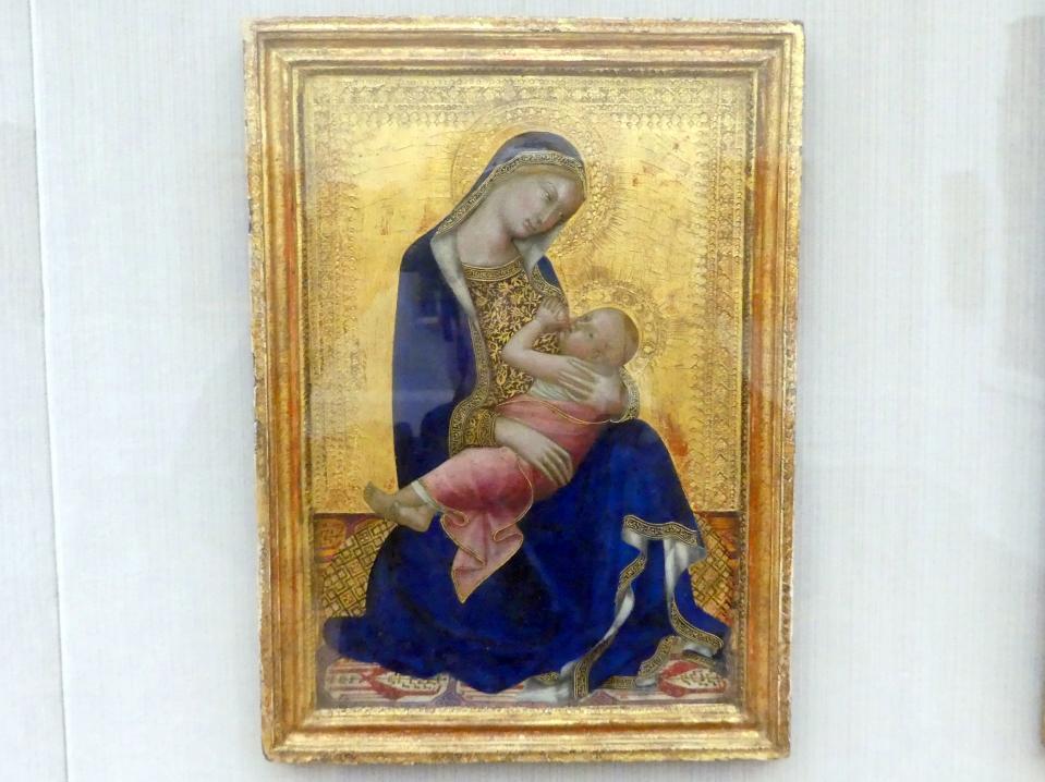 Lippo Memmi (Umkreis): Maria, das Kind stillend, Um 1340 - 1350