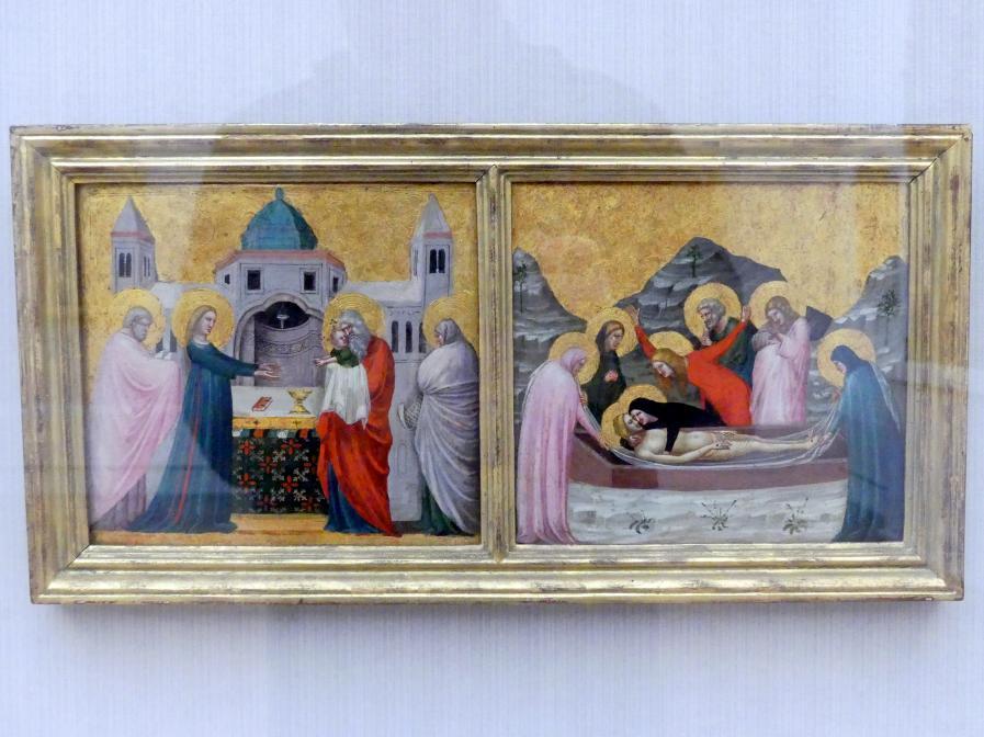 Pietro da Rimini: Zwei Szenen aus dem Leben Christi, Um 1330