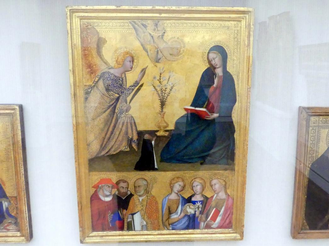 Lippo Memmi: Die Verkündigung an Maria und sechs Heilige, um 1340 - 1350