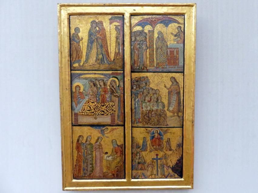 Deodato di Orlando: Zwei Flügel eines Triptychons oder Tragaltars mit Szenen aus dem Leben Johannes d.T. und dem Jüngsten Gericht, Undatiert