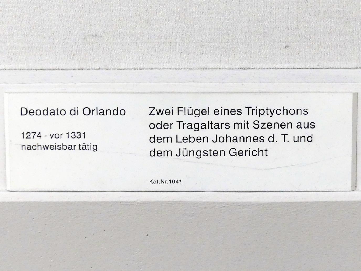 Deodato di Orlando: Zwei Flügel eines Triptychons oder Tragaltars mit Szenen aus dem Leben Johannes d.T. und dem Jüngsten Gericht, Undatiert, Bild 2/2