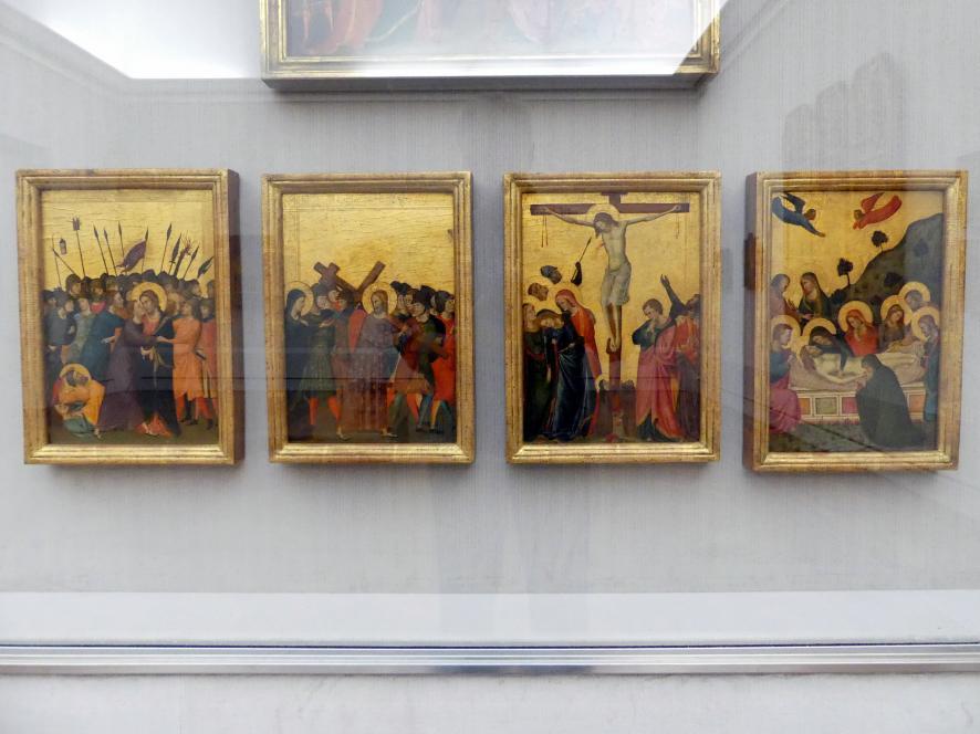 Meister von San Martino alla Palma: Vier Passionsszenen, um 1320