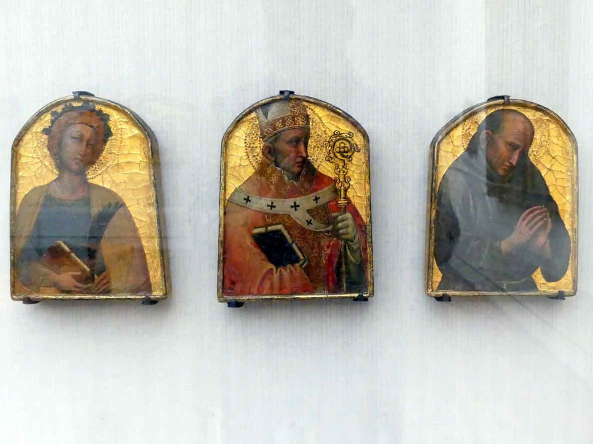 Antonio Veneziano: Weibliche Heilige, hl. Bischof, hl. Franziskaner, Undatiert