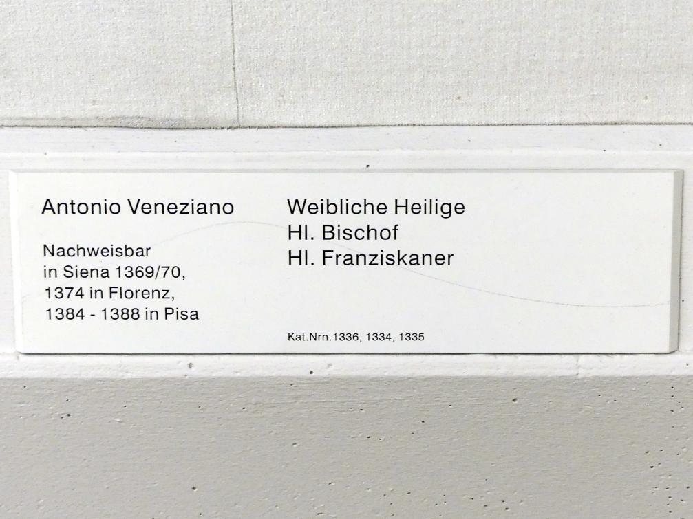 Antonio Veneziano: Weibliche Heilige, hl. Bischof, hl. Franziskaner, Undatiert, Bild 5/5