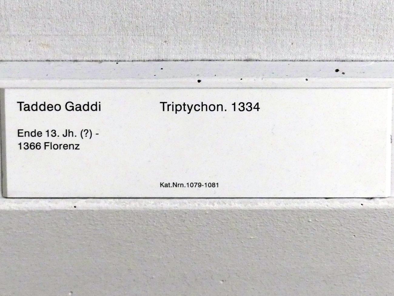 Taddeo Gaddi: Triptychon, 1334, Bild 5/5