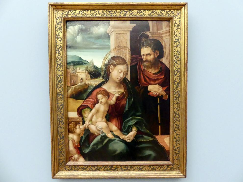 Hans Burgkmair der Ältere: Die Heilige Familie mit dem Johannesknaben, um 1525, Bild 1/2