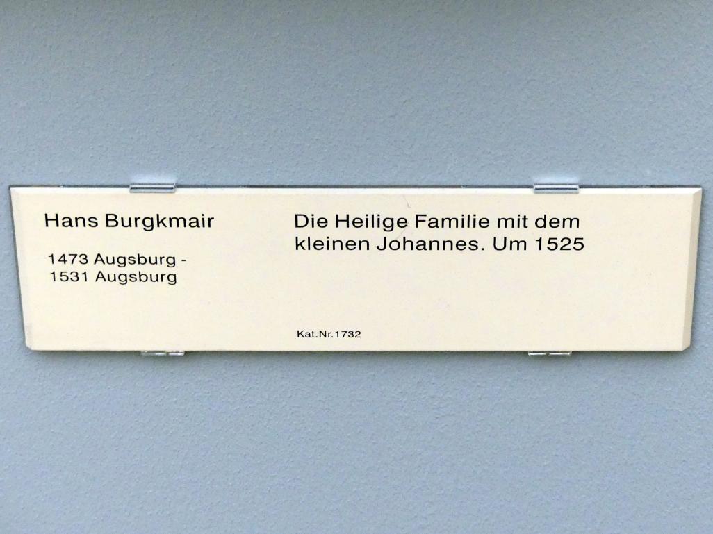 Hans Burgkmair der Ältere: Die Heilige Familie mit dem Johannesknaben, um 1525, Bild 2/2