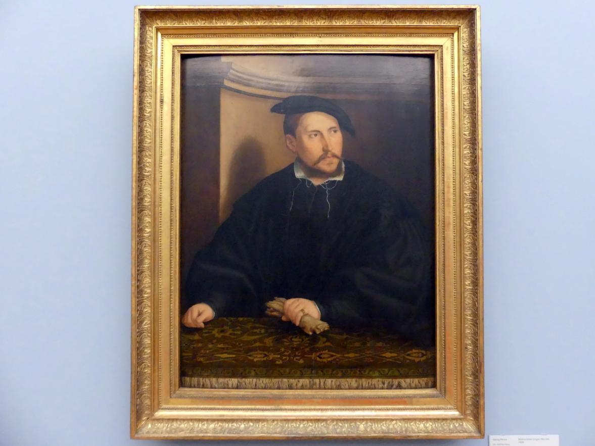 Georg Pencz: Bildnis eines jungen Mannes, 1534