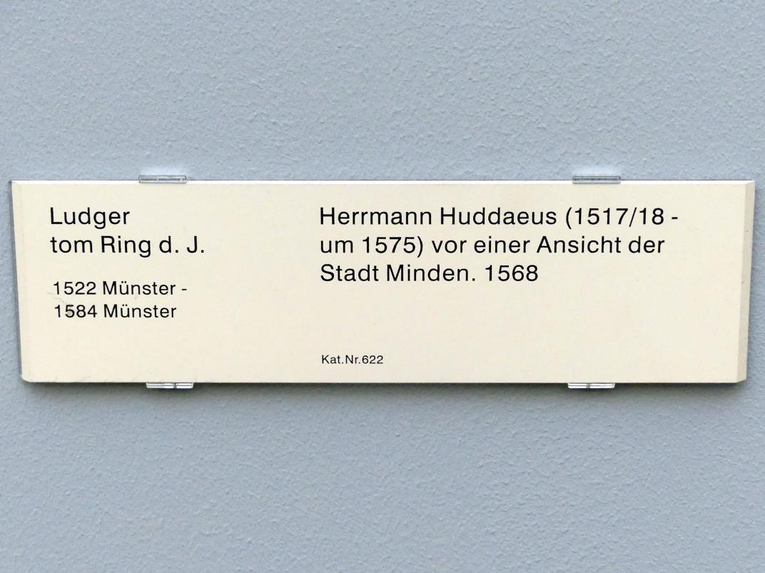 Ludger tom Ring der Jüngere: Herrmann Huddaeus (1517/18 - um 1575) vor einer Ansicht der Stadt Minden, 1568, Bild 2/2