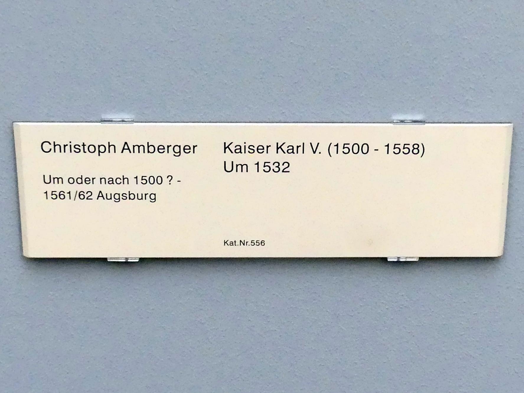 Christoph Amberger: Kaiser Karl V. (1500-1558), um 1532, Bild 2/2
