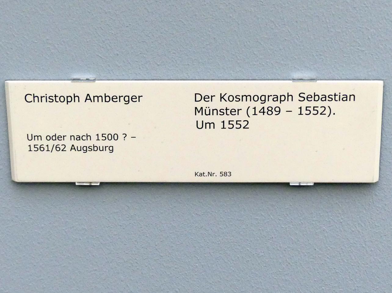 Christoph Amberger: Der Kosmograph Sebastian Münster (1489-1552), um 1552, Bild 2/2