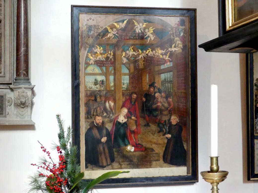 Lucas Cranach der Jüngere: Die Anbetung Jesu durch die Hirten, 1564