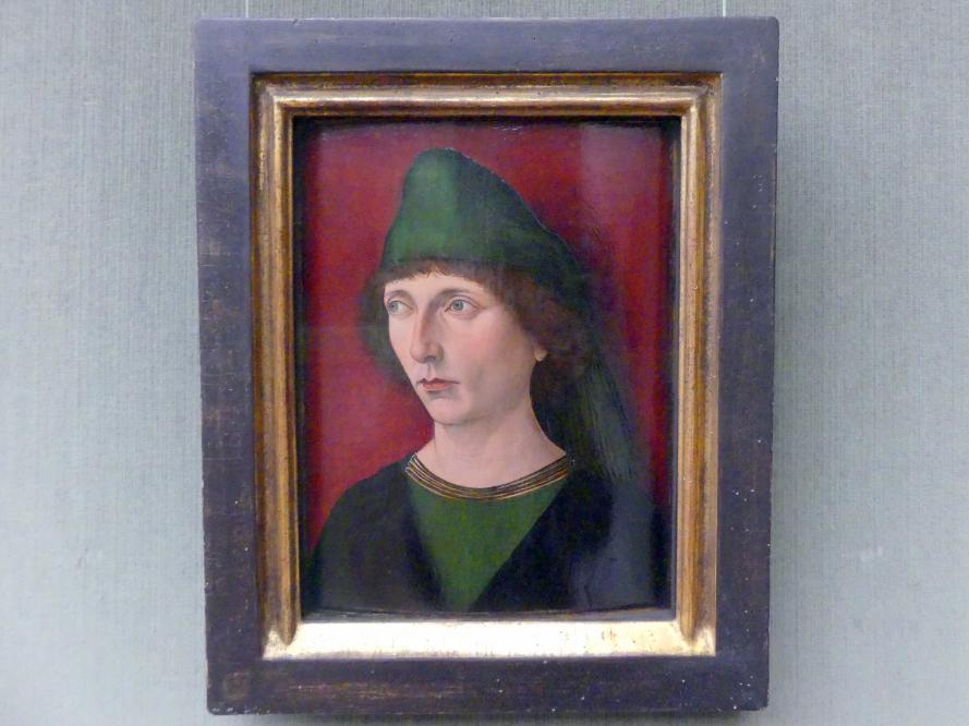 Nürnberger Meister: Portrait eines jungen Mannes, Um 1480 - 1485