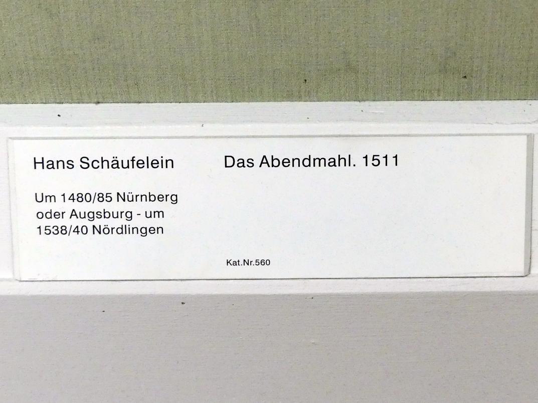 Hans Schäufelein: Das Abendmahl, 1511, Bild 2/2
