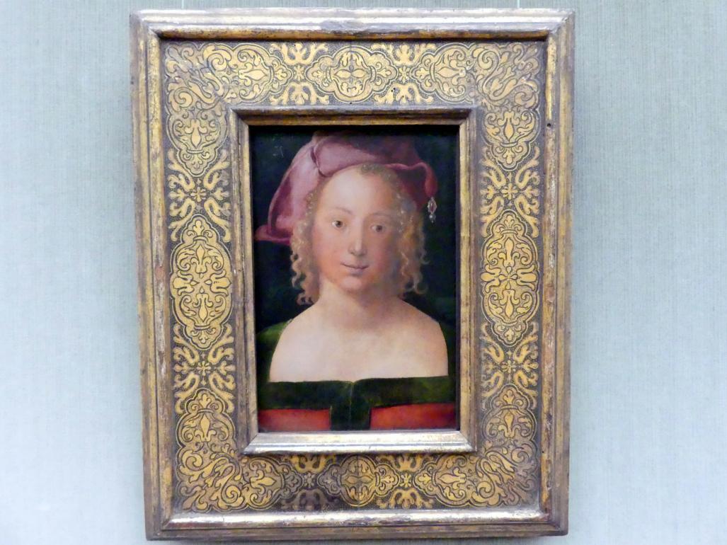 Albrecht Dürer: Bildnis eines Mädchens mit rotem Barett, 1507
