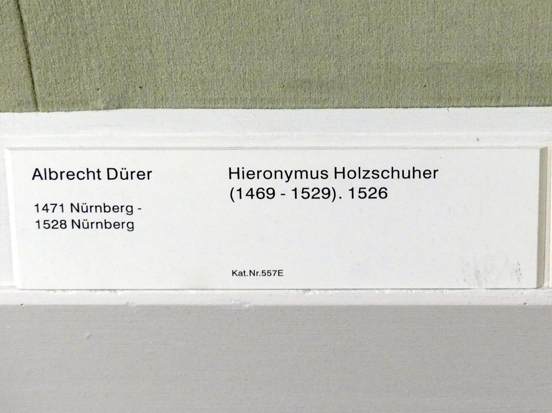 Albrecht Dürer: Hieronymus Holzschuher (1469-1529), 1526, Bild 2/2