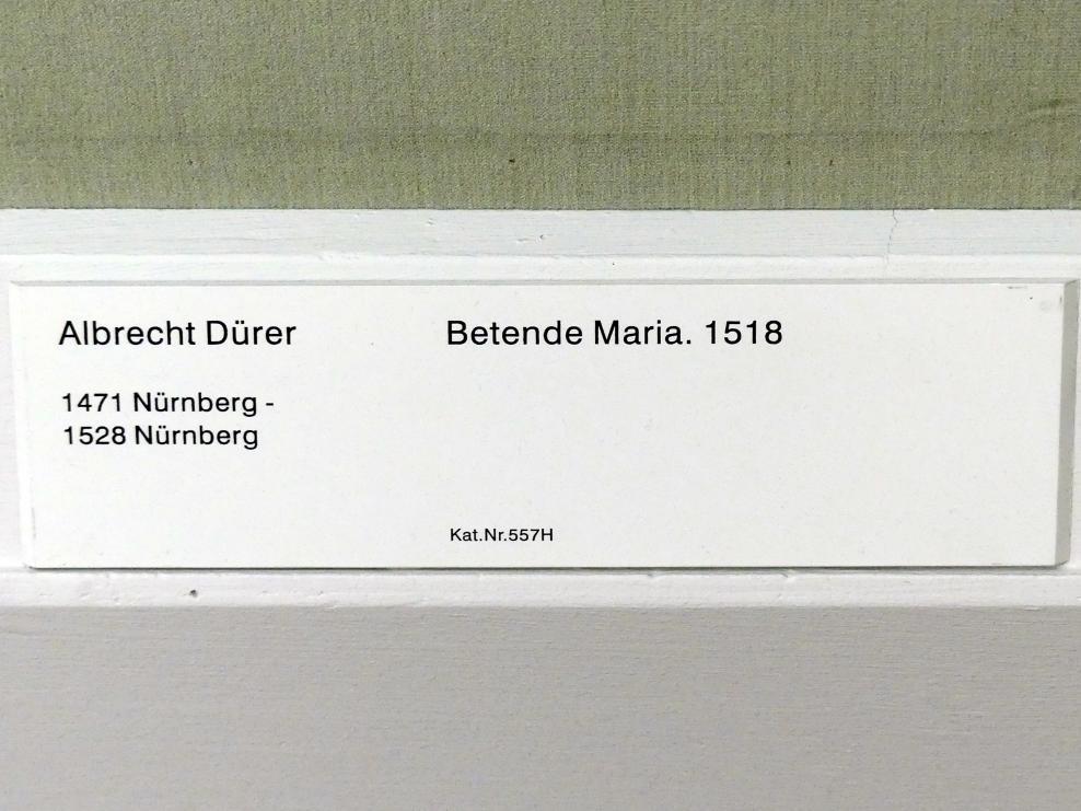 Albrecht Dürer: Betende Maria, 1518, Bild 2/2