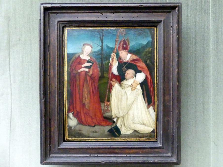 Bernhard Strigel: Der hl. Konrad als Schutzheiliger eines Zisterziensermönchs, nach 1520