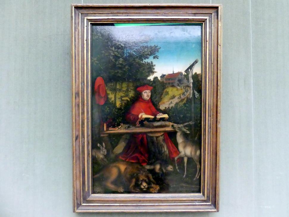 Lucas Cranach der Ältere: Kardinal Albrecht von Brandenburg (1490-1545) als hl. Hieronymus, 1527