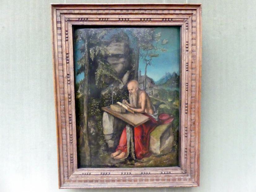 Lucas Cranach der Ältere: Der hl. Hieronymus in felsiger Landschaft, um 1515