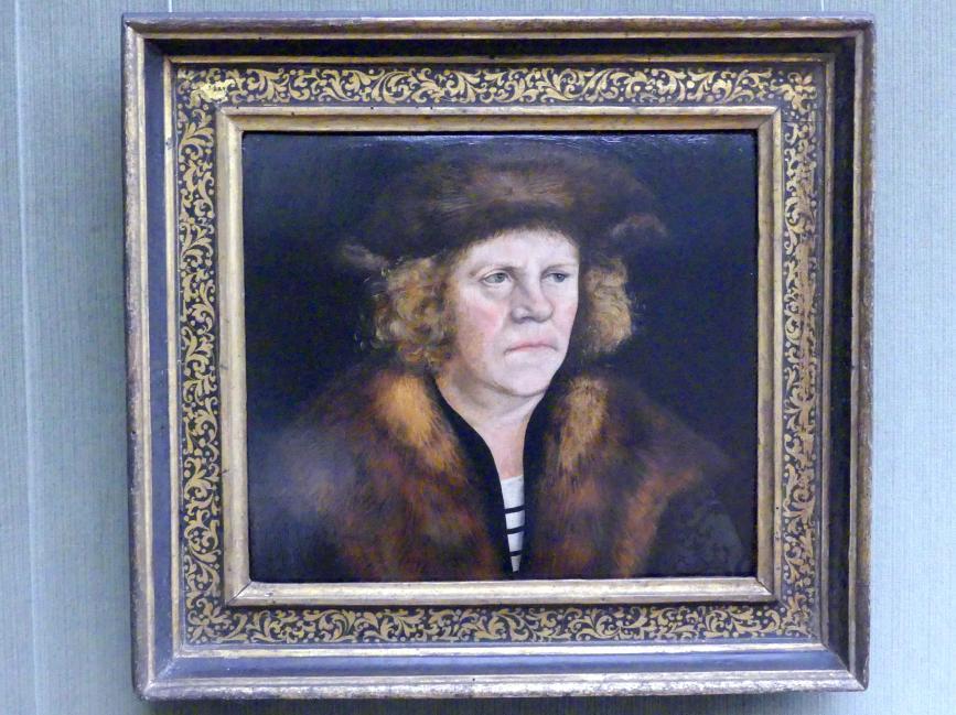Lucas Cranach der Ältere: Bildnis eines Mannes mit braunem Pelzbarett, um 1510 - 1512