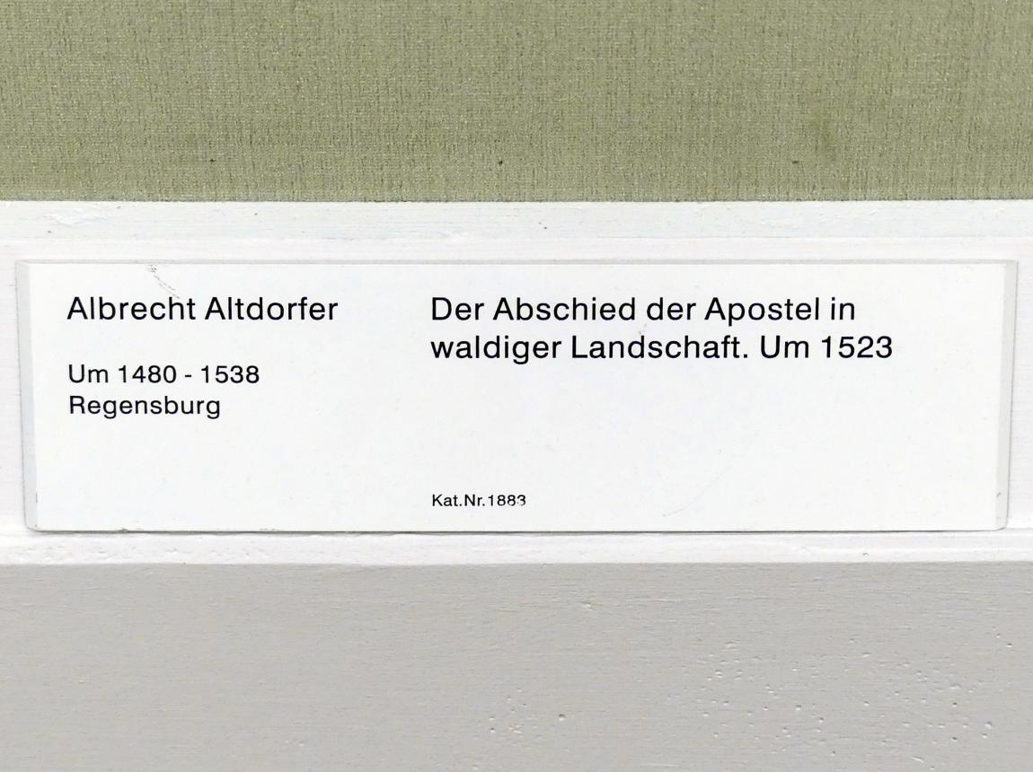 Albrecht Altdorfer: Der Abschied der Apostel in waldiger Landschaft, Um 1523