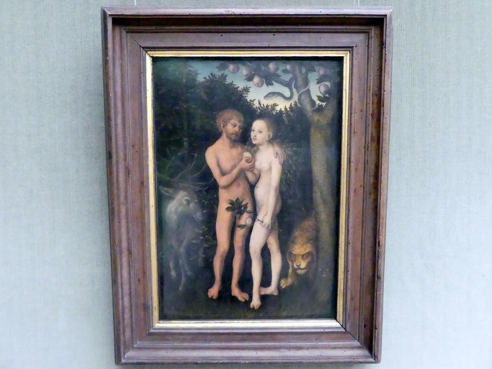 Lucas Cranach der Ältere: Adam und Eva im Paradies (Sündenfall), 1531