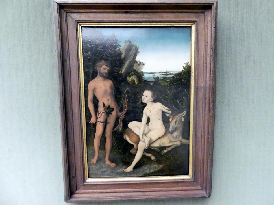 Lucas Cranach der Ältere: Apoll und Diana in waldiger Landschaft, 1530