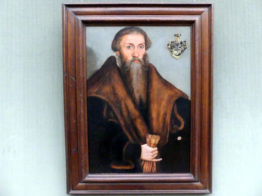 Lucas Cranach der Ältere: Der Jurist Leonhard Badehorn (1510-1587), Undatiert