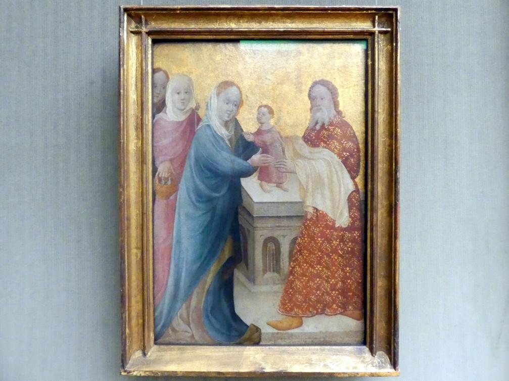 Meister des Berswordt-Altars: Die Darstellung Christi im Tempel, um 1400
