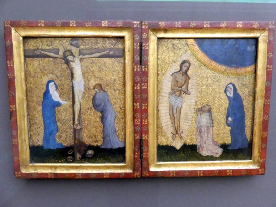 Diptychon mit der Kreuzigung und dem Schmerzensmann, um 1400