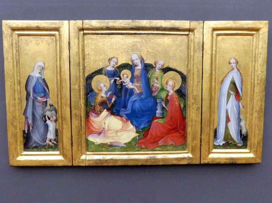 Meister des älteren Sippenaltars: Marientriptychon, um 1410 - 1420