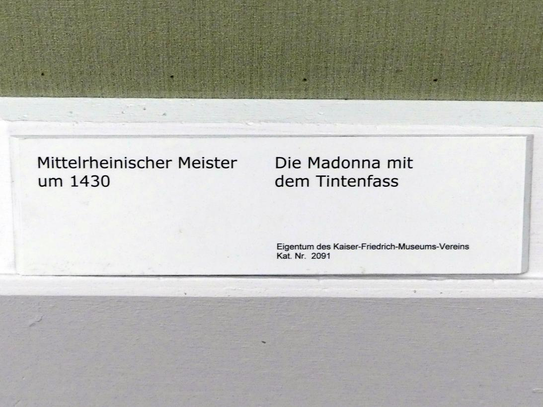 Die Madonna mit dem Tintenfass, um 1430, Bild 2/2
