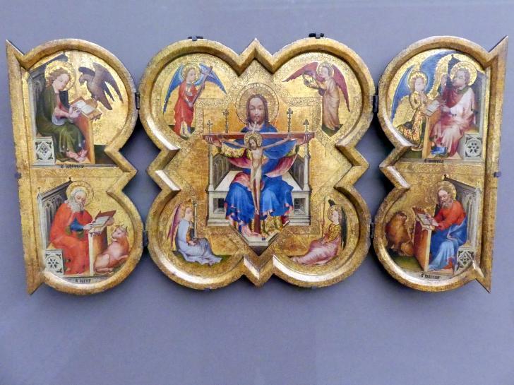 Triptychon mit der Heiligen Dreifaltigkeit und den vier Evangelisten, um 1390