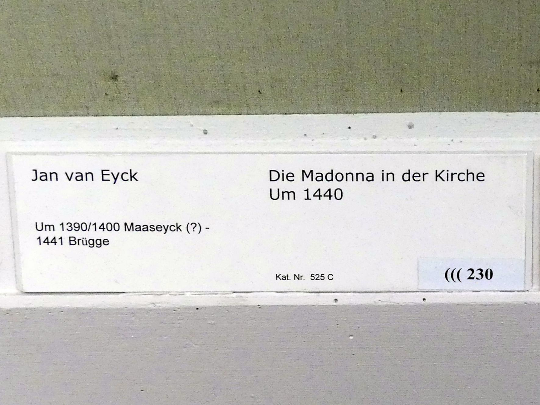 Jan van Eyck: Die Madonna in der Kirche, um 1440, Bild 2/2