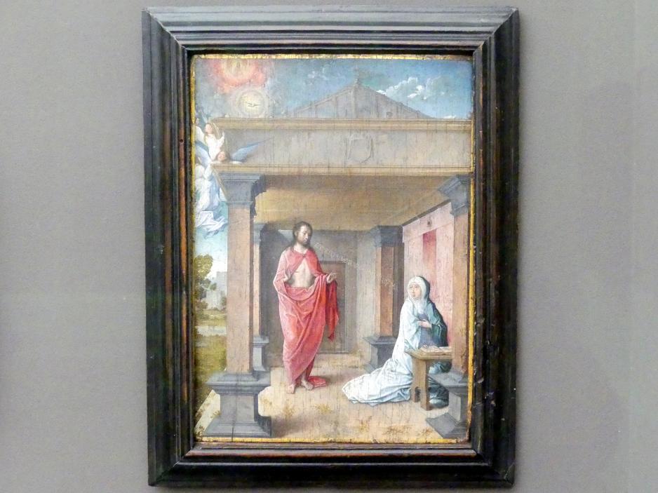 Juan de Flandes: Christus erscheint Maria, Um 1500