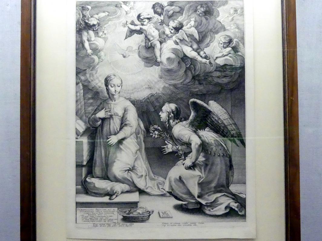 Hendrick Goltzius: Verkündigung an Maria, um 1594