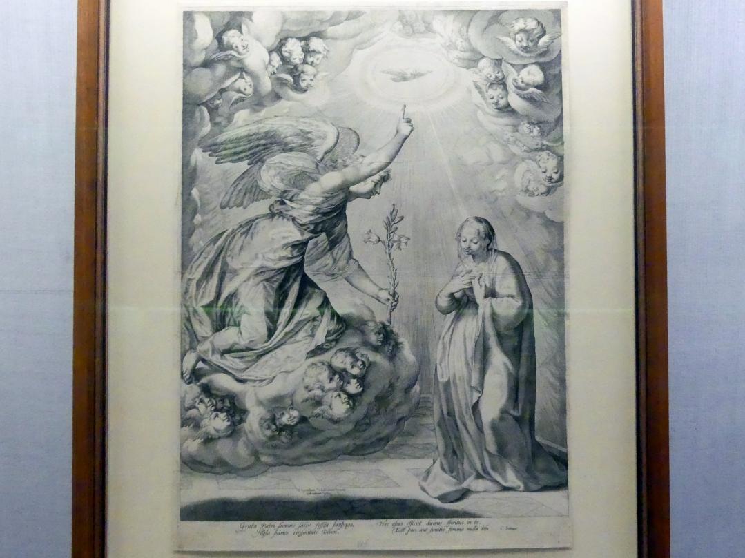 Hendrick Goltzius: Verkündigung an Maria, um 1596