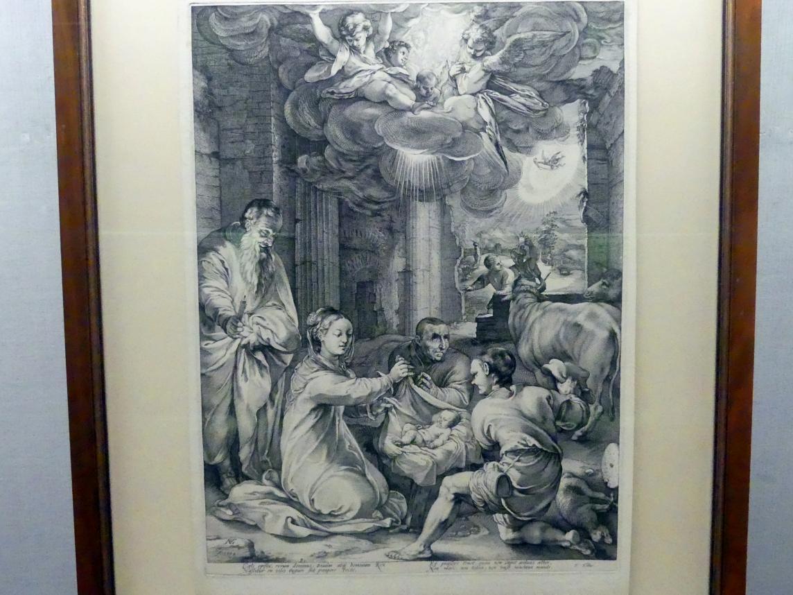 Hendrick Goltzius: Anbetung der Hirten, um 1594