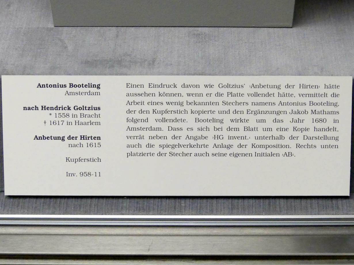 Antonius Booteling: Anbetung der Hirten, nach 1615, Bild 3/3